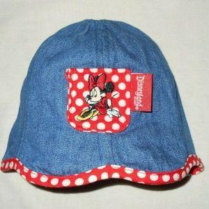 Vintage Minnie Mouse Pocket Denim Soft Comfy Hat
